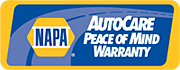 Get the Peace of Mind Warranty from PACE AUTOMOTIVE